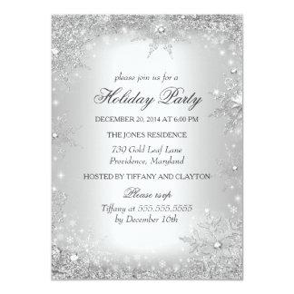 Celebración de días festivos de plata del navidad invitaciones personalizada