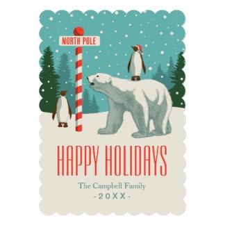 """Celebración de días festivos de Polo Norte Invitación 5"""" X 7"""""""
