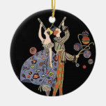 Celebración de días festivos del art déco de ornamento para arbol de navidad
