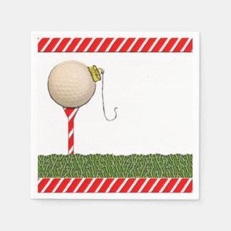 celebración de días festivos del golf servilletas de papel