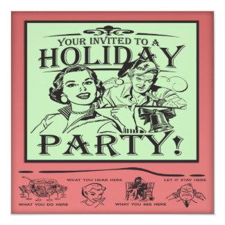"""Celebración de días festivos del navidad invitación 5.25"""" x 5.25"""""""
