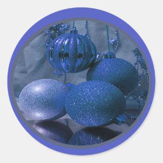 Celebración de días festivos del navidad pegatina redonda