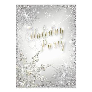 """Celebración de días festivos elegante de Frost del Invitación 5"""" X 7"""""""