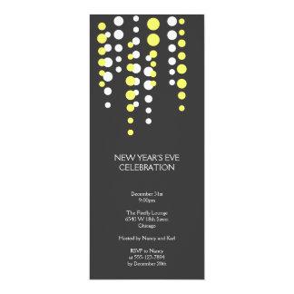 """Celebración de días festivos elegante moderna gris invitación 4"""" x 9.25"""""""