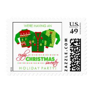 Celebración de días festivos fea del suéter del sellos