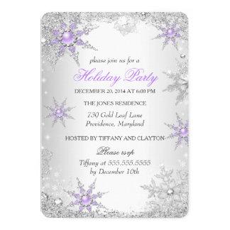"""Celebración de días festivos púrpura del navidad invitación 5"""" x 7"""""""