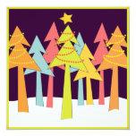 Celebración de días festivos retra de los árboles anuncios personalizados