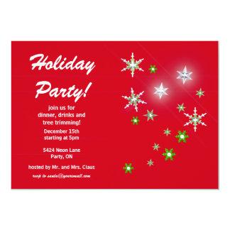 Celebración de días festivos roja de la chispa de invitación personalizada