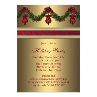 Celebración de días festivos roja del navidad del invitación 12,7 x 17,8 cm