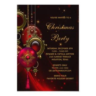 Celebración de días festivos roja elegante del invitación 12,7 x 17,8 cm