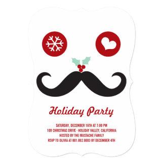 """Celebración de días festivos sonriente del bigote invitación 5"""" x 7"""""""
