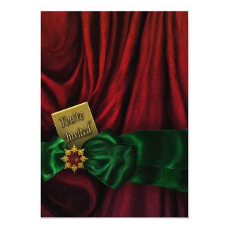 Celebración de días festivos verde roja del invitacion personal