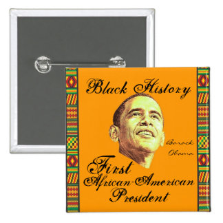 Celebración de historia negra pin cuadrado