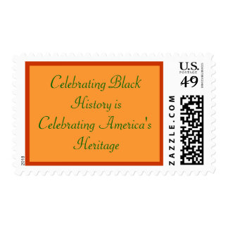 Celebración de historia negra sellos