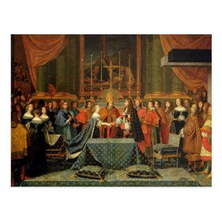 Celebración de la boda de Louis XIV Tarjeta Postal