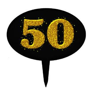 Celebración de la chispa 50.a del oro decoraciones para tartas