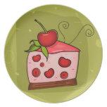 Celebración de la empanada de la cereza plato