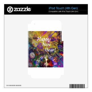 Celebración de la Feliz Año Nuevo iPod Touch 4G Skins
