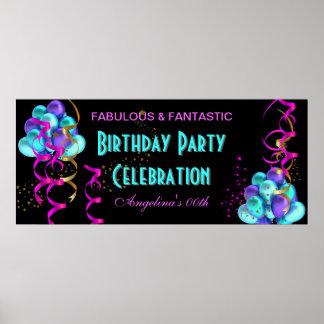 Celebración de la fiesta de cumpleaños de la bande póster