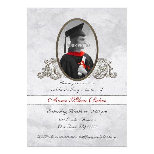 Celebración de la graduación del marco de la foto invitaciones personales