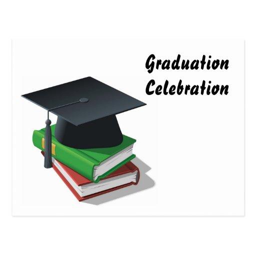 Celebración de la graduación - postal