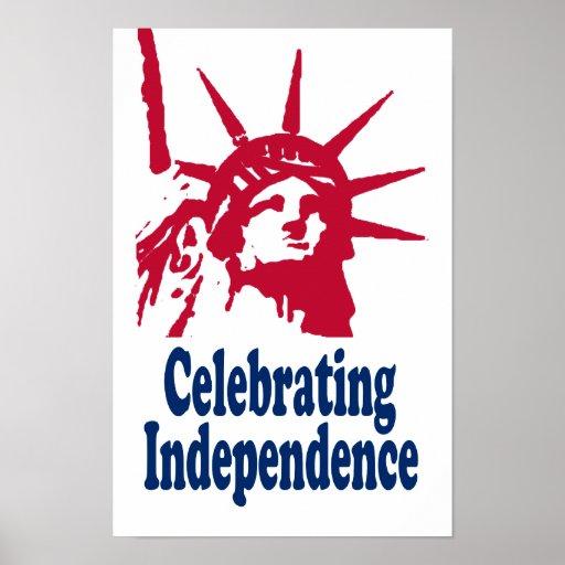 Celebración de la impresión de la independencia póster