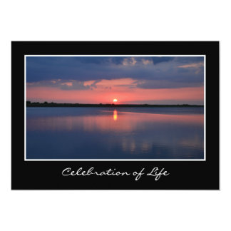 Celebración de la invitación de la vida invitación 12,7 x 17,8 cm