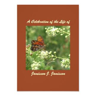 Celebración de la invitación de la vida, mariposa