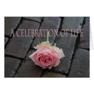 Celebración de la invitación de la vida tarjeta de felicitación