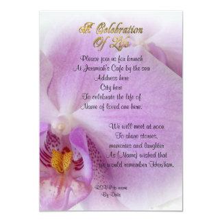 Celebración de la orquídea de la invitación de la