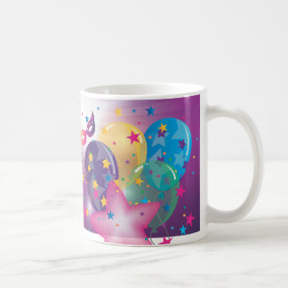 Celebración de la plantilla de la taza de café