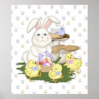 Celebración de la primavera del conejito y de los  posters