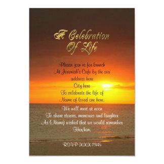 Celebración de la puesta del sol de la invitación