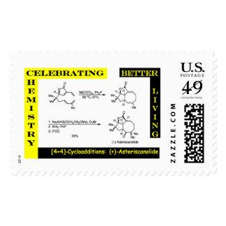 Celebración de la química 4 timbre postal