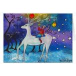 Celebración de la tarjeta de Navidad del reno del