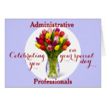 Celebración de la tarjeta del día del profesional