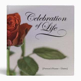 """Celebración de la vida con el libro de visitas carpeta 1 1/2"""""""