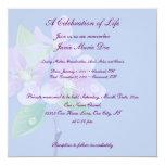 Celebración de la vida invitación 13,3 cm x 13,3cm