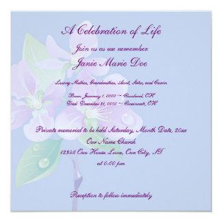 """Celebración de la vida invitación 5.25"""" x 5.25"""""""