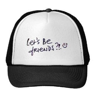 Celebración de los amigos del día de la amistad gorras de camionero