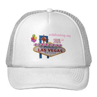 celebración de mi 21ro cumpleaños en Las Vegas fab Gorro