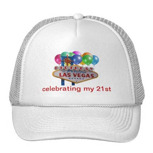 Celebración de mi 21ro gorra de Las Vegas del cump