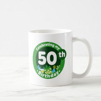 Celebración de mi 50.o cumpleaños taza