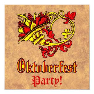 Celebración de Oktoberfest Invitación 13,3 Cm X 13,3cm