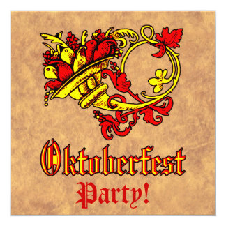 "Celebración de Oktoberfest Invitación 5.25"" X 5.25"""