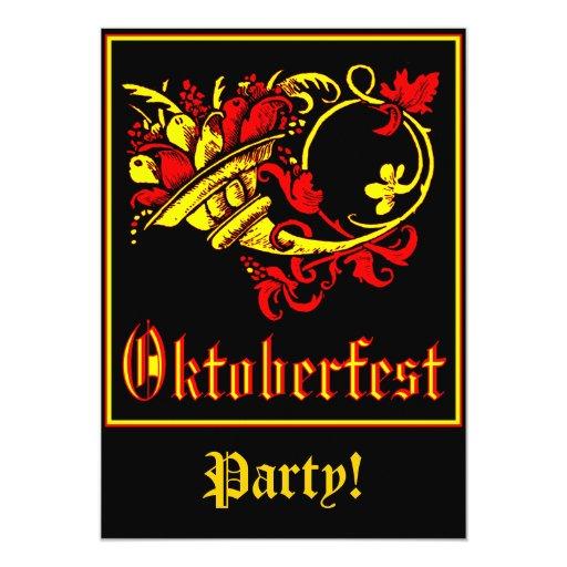 "Celebración de Oktoberfest Invitación 5"" X 7"""