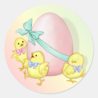 Celebración de Pascua Etiqueta Redonda