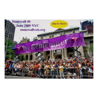 Celebración de Stonewall en la biblioteca principa Posters
