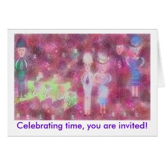 Celebración de tiempo tarjeta de felicitación