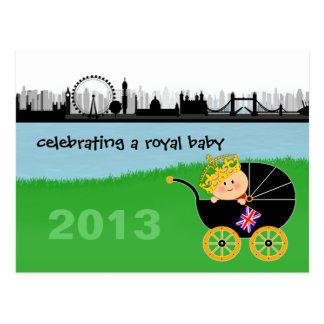 Celebración de una postal real del bebé